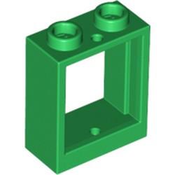 Green Window 1 x 2 x 2 Flat Front