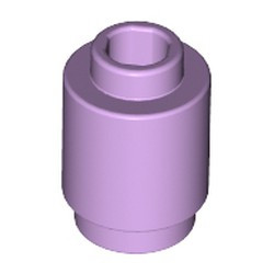 Lavender Brick, Round 1 x 1 Open Stud - new