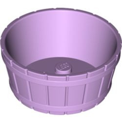 Lavender Container, Barrel Half Large with Axle Hole