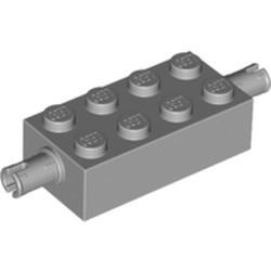 Light Bluish Gray Brick, Modified 2 x 4 with Pins