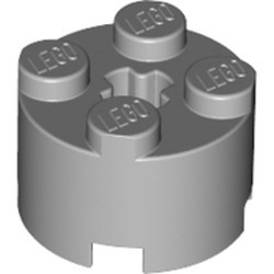 Light Bluish Gray Brick, Round 2 x 2 with Axle Hole - used