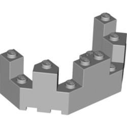 Light Bluish Gray Castle Turret Top 4 x 8 x 2 1/3 - used