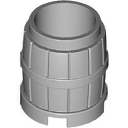 Light Bluish Gray Container, Barrel 2 x 2 x 2