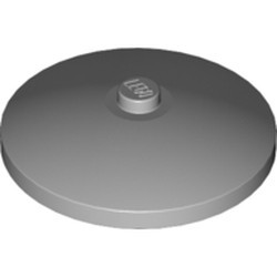 Light Bluish Gray Dish 4 x 4 Inverted (Radar) with Solid Stud - new