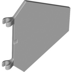 Light Bluish Gray Flag 5 x 6 Hexagonal