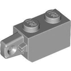 Light Bluish Gray Hinge Brick 1 x 2 Locking with 1 Finger Vertical End