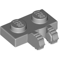 Light Bluish Gray Hinge Plate 1 x 2 Locking with 2 Fingers on Side and 7 Teeth