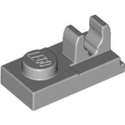 Light Bluish Gray Plate, Modified 1 x 2 with Clip on Top - new