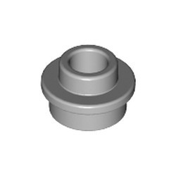 Light Bluish Gray Plate, Round 1 x 1 with Open Stud