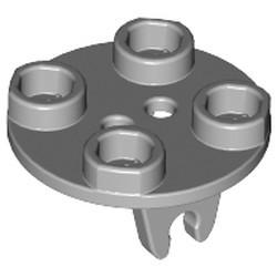 Light Bluish Gray Plate, Round 2 x 2 Thin with Wheel Holder - used