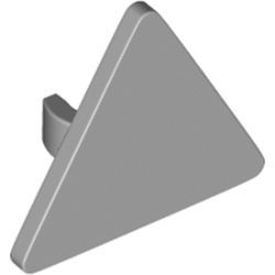 Light Bluish Gray Road Sign 2 x 2 Triangle with Open O Clip