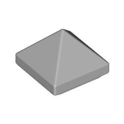 Light Bluish Gray Slope 45 1 x 1 x 2/3 Quadruple Convex Pyramid