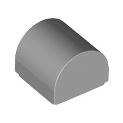 Light Bluish Gray Slope, Curved 1 x 1 Double - new