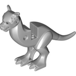 Light Bluish Gray Tauntaun Body with Legs and Eyes Pattern, Flexible Tail - used