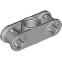 Light Bluish Gray Technic, Axle and Pin Connector Perpendicular 3L with Center Pin Hole - used