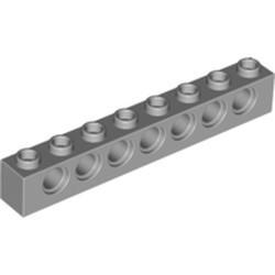 Light Bluish Gray Technic, Brick 1 x 8 with Holes - used