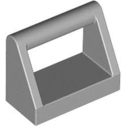 Light Bluish Gray Tile, Modified 1 x 2 with Bar Handle