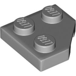 Light Bluish Gray Wedge, Plate 2 x 2 Cut Corner