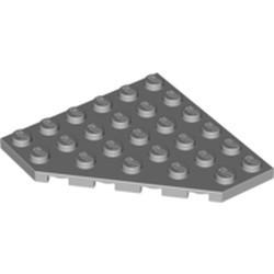 Light Bluish Gray Wedge, Plate 6 x 6 Cut Corner