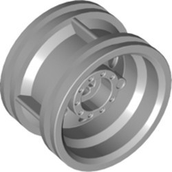 Light Bluish Gray Wheel 30.4mm D. x 20mm with No Pin Holes and Reinforced Rim