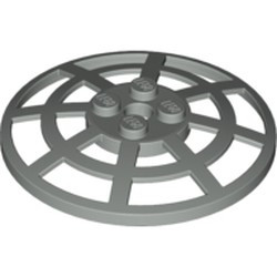 Light Gray Dish 6 x 6 Inverted (Radar) Webbed - Type 2 (underside attachment positions at 90 degrees) - used