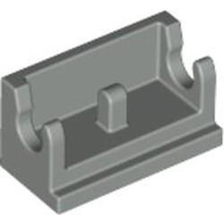 Light Gray Hinge Brick 1 x 2 Base - used