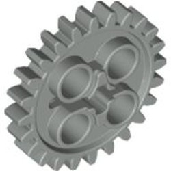 Light Gray Technic, Gear 24 Tooth (2nd Version - 1 Axle Hole) - used