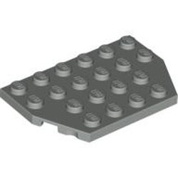 Light Gray Wedge, Plate 4 x 6 Cut Corners - new