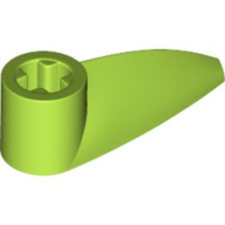 Lime Bionicle 1 x 3 Tooth with Axle Hole