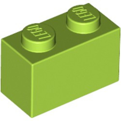 Lime Brick 1 x 2 - used