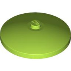 Lime Dish 4 x 4 Inverted (Radar) with Solid Stud - used