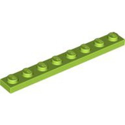 Lime Plate 1 x 8 - new