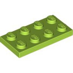 Lime Plate 2 x 4 - new