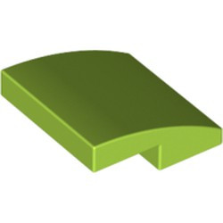 Lime Slope, Curved 2 x 2