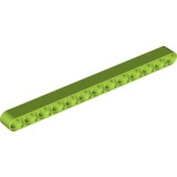Lime Technic, Liftarm 1 x 13 Thick - new