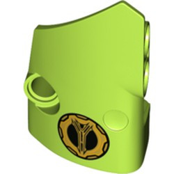 Lime Technic, Panel Fairing # 1 Small Smooth Short, Side A with Lamborghini Fuel Cap Pattern - new