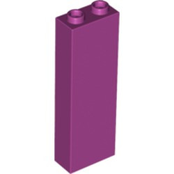 Magenta Brick 1 x 2 x 5 - Blocked Open Studs or Hollow Studs - new