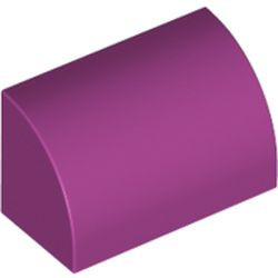 Magenta Slope, Curved 1 x 2 x 1