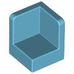 Medium Azure Panel 1 x 1 x 1 Corner - used