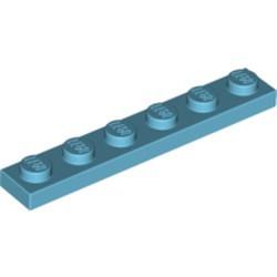 Medium Azure Plate 1 x 6 - new