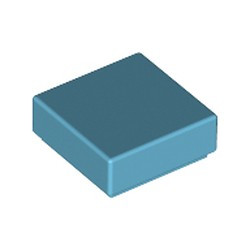 Medium Azure Tile 1 x 1 with Groove (3070) - used