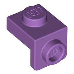 Medium Lavender Bracket 1 x 1 - 1 x 1 - new