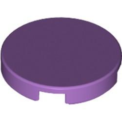 Medium Lavender Tile, Round 2 x 2 with Bottom Stud Holder
