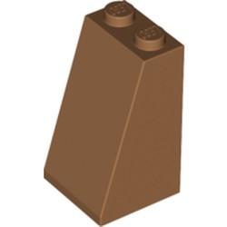 Medium Nougat Slope 75 2 x 2 x 3 - Solid Studs