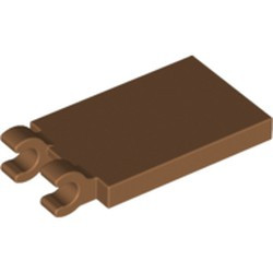 Medium Nougat Tile, Modified 2 x 3 with 2 Open O Clips