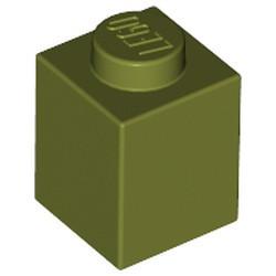 Olive Green Brick 1 x 1 - new