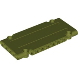 Olive Green Technic, Panel Plate 5 x 11 x 1 - new