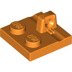 Orange Hinge Plate 2 x 2 Locking with 1 Finger on Top - used
