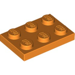 Orange Plate 2 x 3 - new