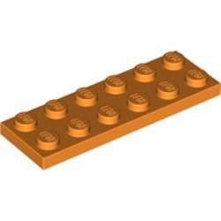 Orange Plate 2 x 6 - used